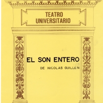 "Cover from the program for the production, ""El son entero"""