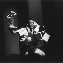 "Photograph of Déxter Cápiro (Orestes Garrigó) in the production, ""Electra Garrigó"""