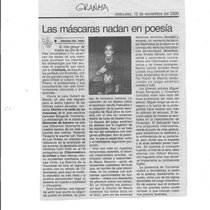 "Press release for the production, ""Electra o la caída de las máscaras"""