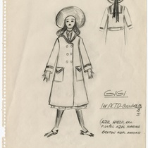 "Costume design for the production, ""Gigi"""