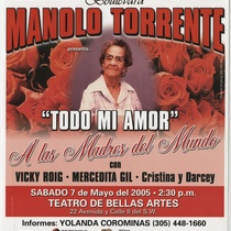 "Flyer for the production, ""Todo mi amor"""