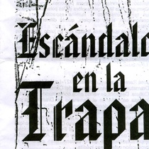 "Program for the production, ""Escándalo en la trapa"""