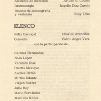 "Program for the production ""El andarín carvajal"""