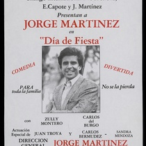 "Poster for the production, ""Día de fiesta"""