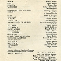 "Program for the production, ""La casa del marinero"""