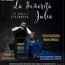Poster for the theatrical production, La señorita Julia