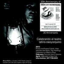 Poster for the event celebrating the Latino New York Theater