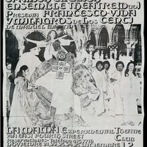 Playbill for the theatrical production, Francesco: Vida y milagros de los Cenci
