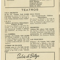 "Program for the production, ""Malditos"" (Dammed)"