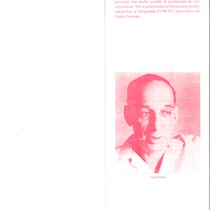 "Program for the production, ""Electra Garrigó"" (Havana, 1997)"