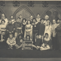 "Cast from the production, ""El mercader de Venecia"""
