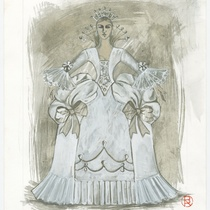 "Costume design for the ballet, ""¡Sí señor! ¡Es mi son!"""