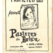 "Program of the production, ""Pastores de Belén"""