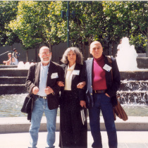 Abelardo Estorino, María Irene Fornés, and René Buch in California