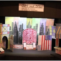 "Scenic design for the production, ""Guys and Dolls"""