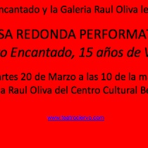 "Flyer for ""Mesa redonda performativa"""