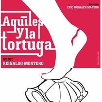 "Advertising postcard for the production, ""Aquiles y la tortuga"""
