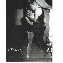 "Photograph of Teresa María Rojas and Helmo Hernández in the production, ""Llama viva"""