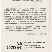 "Program for the production, ""Cecilia Valdés"""