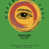 Poster for the II Open Arts Fest - Miami 2019