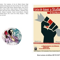 Program for the theatrical production, Cartas de amor a Stalin