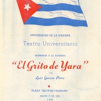 "Program for the production, ""El grito de Yara"""