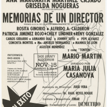 "Poster for the production, ""Memorias de un director"""
