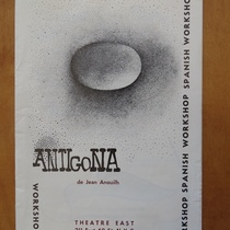 Program for the theatrical production, Antígona (New York, 1969)