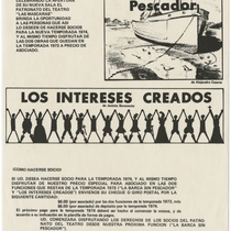 "Playbill for the production, ""La barca sin pescador"""