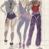 "Costume design for Rehearsal Chorus 30-31-32 for the production, ""A Broadway Musical"""