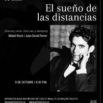Poster for the theatrical production, El sueño de las distancias