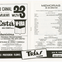 "Program for the production, ""Memorias de un director"""