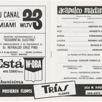 "Program for the production, ""Acapulco Madame"""