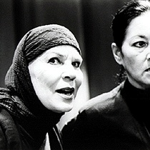 "Ana Margarita Martínez-Casado (Poncia) and Adria Santana (Bernarda) in ""The House of Bernarda Alba"""