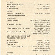 "Program for the production, ""Rondas infantiles"""