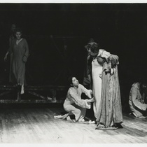 Orestes Matacena (Olimpio Calvetti), Magaly Alabau (Beatrice Cenci), Hortensia Colorado (Lucrezia Petronia), Manuel Martín (Francesco Cenci) and Edwin Ávila (Pope Clement VIII) in the theatrical production, Francesco: The Life and Times of the Cencis