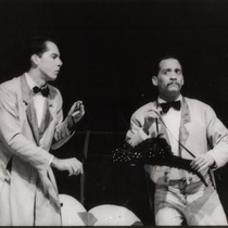 "Photograph of Déxter Cápiro and Mario Guerra in the production, ""La boda"""
