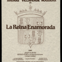 "Poster for the production, ""La reina enamorada"""