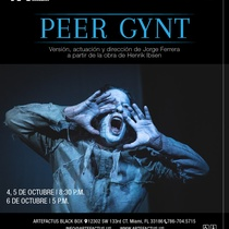 Poster for the theatrical production, Peer Gynt