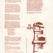 "Playbill for the production, ""El super"" (The super)"