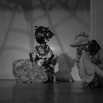 Photographs of the theatrical production, Alas (B&W)