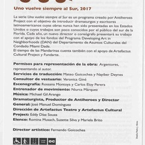 "Program for the production, ""El tiempo de las mandarinas"" (large)"