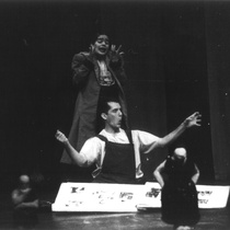 "Photograph of Déxter Cápiro (Orestes Garrigó) and Gilda Bello (Electra) in the production, ""Electra Garrigó"""