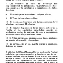 Call for the festival, XVII Festival Latinoamericano del Monólogo