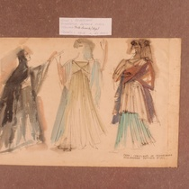 Costume designs for the theatrical production, Coriolano