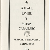 "Program for the production, ""El sonido de la música"""