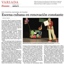 Newspaper clipping of Escena cubana