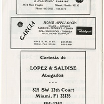 "Program for the production, ""Electra Garrigó"" (Miami, 1978)"
