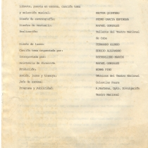 "Program for the production, ""Sábado corto"""