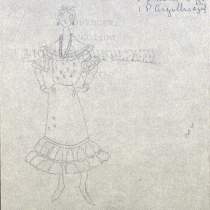 Costume design for the theatrical production, Las vacas gordas